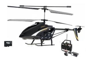 "SPY HAWK 3.5CH Metal RC helicopter RTF + Gyro and SPY Camera + 1 GB SD memory card - Large Size 12"" wide"