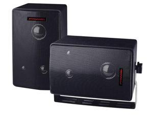 PYRAMID CAR AUDIO 3808 NEW 400 WATTS PEAK POWER 3-WAY MINI BOX SPEAKER SYSTEM