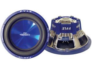 PYLE CAR AUDIO PLBW154 NEW 15 INCH 1500 WATT DVC SUBWOOFER BLUE CHROME PLATED