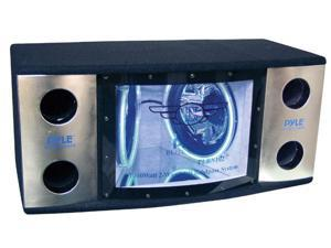 "PYLE CAR AUDIO PLBN122 NEW DUAL 12"" 2 WAY 1200 W BANDPASS W/ BLUE WOOFER RINGS"