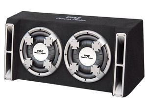 PYLE CAR AUDIO PL210DS NEW DUAL 10 INCH SLIM DESIGNED BASS BOX SPEAKER SYSTEM
