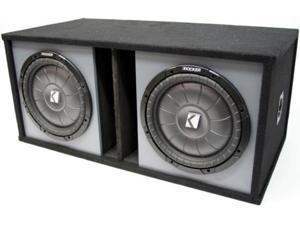 "KICKER DUAL 12"" SYSTEM CVT12 SUB SUBWOOFER COMP BOX NEW"
