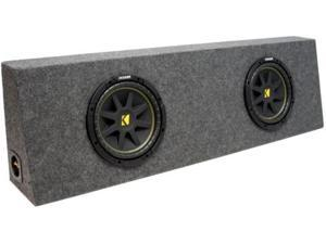 "KICKER DUAL 12"" C12 SUB LOADED TRUCK SUBWOOFER BOX NEW"