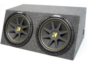 "KICKER DUAL 12"" COMP SUB C12 LOADED SUBWOOFER BOX NEW"