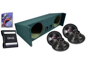 JEEP WRANGLER 87-06 YJ TJ BOSS DUAL 10 CHAOS SUB BOX CE1250M 1250W AMP AMPLIFIER