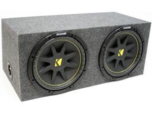 "KICKER DUAL 10"" LOADED C10 SUB LOADED SUBWOOFER BOX NEW"