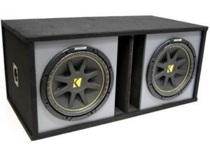 "KICKER DUAL 10"" C10 SUB SUBWOOFER COMP ENCLOSURE NEW"
