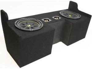 "CHEVY COLORADO 04-09 CUSTOM DUAL 12"" KICKER C12 SUB BOX"