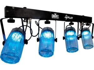 CHAUVET 4PLAYCL NEW LED MOONFLOWER PACKAGE WITH CASE