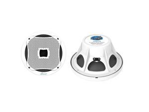 LANZAR AQW10 NEW 10'' 800 WATTS WATER-RESISTANT WHITE MARINE SUBWOOFER W/ GRILLS