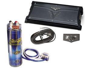 KICKER AMPLIFIER PACKAGE ZX1500.1 & STINGER 1 FARAD CAP