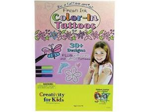 Fresh Ink: Color-In Tattoos Arts & Crafts
