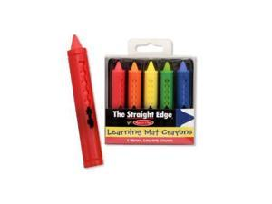 Melissa & Doug: The Straight Edge Learning Mat Crayons