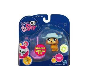 Littlest Pet Shop: Pomeranian Puppy (#1317) With Hat And Umbrella Action Figure