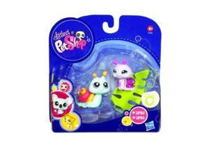 Littlest Pet Shop: 2010 Series 4 Blue Snail (#1528) & Pink Snail (#1529) Action Figure 2-Pack