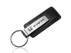 Honda Civic Black Leather Key Chain