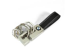 BMW 3 Ring Leather Key Chain