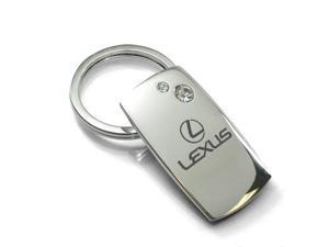 Lexus Quadrilateral Chrome Key Chain