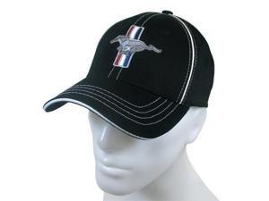 Ford Mustang Black Flex Fit Baseball Cap
