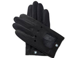 BMW Logo Black Leather Driving Glove Size S