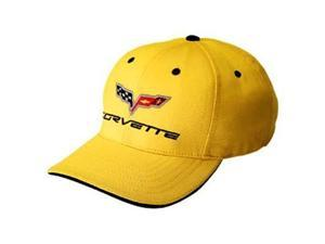 Corvette C6 Yellow Baseball Cap