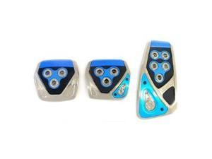 RAZO RP105BL Blue Manual Car Pedal Covers