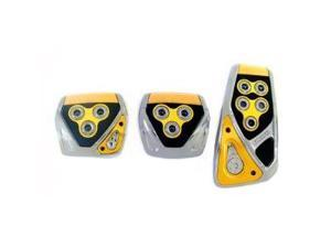 RAZO RP105YE Yellow Manual Car Pedal Covers