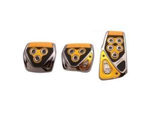 RAZO RP104YE Yellow Manual Car Pedal Covers