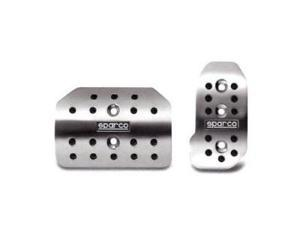 Sparco Polished Aluminum Automatic Pedal Covers