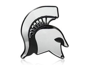 Michigan State University Spartan Head Chrome Auto Emblem