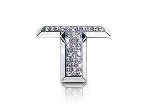 Crystallized Letter T Car Emblem