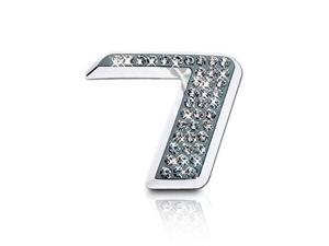 Crystallized Number 7 Car Emblem