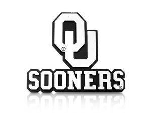 University of Oklahoma Sooners Chrome ABS 2D Auto Emblem