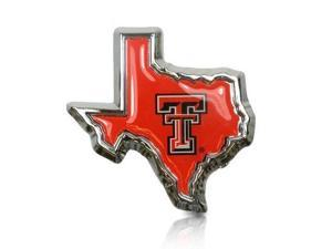 Texas Tech University Logo in TX shape Car Emblem