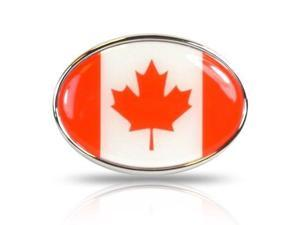 Canada Flag Oval Metal Car Emblem