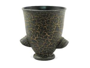 EXP Handmade Ceramic Decorative Flower Vase / Urn With Chic Crackle Finish