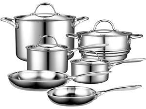 Cooks Standard Multi-Ply Clad 10-Piece Cookware set Stainless steel