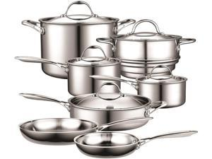 Cooks Standard Multi-Ply Clad 12-Piece Cookware Set Stainless Steel