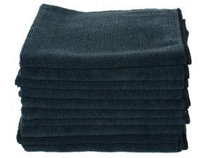 "Black Microfiber Towels 16""x16"" (10-Pack)"