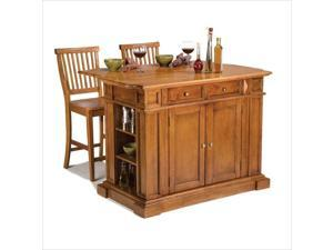 Home Styles Kitchen Island & Stools Distressed Oak - 5004-948