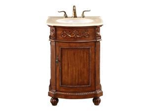 "Elegant Lighting Danville 1 Door 24"" Single Bathroom Vanity in Brown"