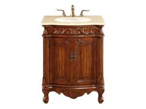 "Elegant Lighting Danville 2 Door 27"" Single Bathroom Vanity in Brown"