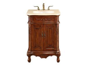 "Elegant Lighting Danville 2 Door 24"" Single Bathroom Vanity in Brown"