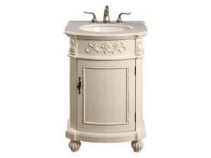 "Elegant Lighting Danville 1 Door 24"" Single Bathroom Vanity in White"