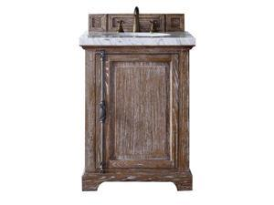 "James Martin Providence 26"" Single Bathroom Vanity in Driftwood-3cm Snow White"