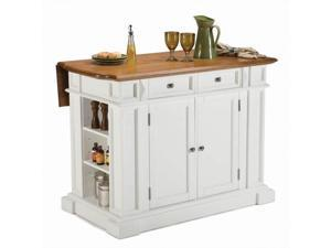 Home Styles Kitchen Island White & Distressed Oak Finish - 5002-94