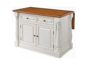 Home Styles Monarch Antiqued White Kitchen Island - 5020-94