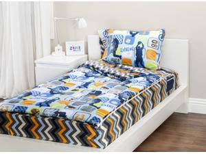 Zipit Bedding Set, Extreme Sports - Twin - Zip-Up Your Sheets and Comforter Like a Sleeping Bag!