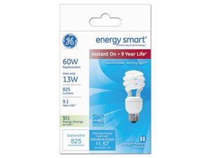 Compact Fluorescent Bulb, 13 Watts, Spiral, Soft White, 2/Pack 42105