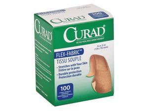 "Curad Fabric Strip Bandages, 3"" x 3/4"", Beige   NON25650"